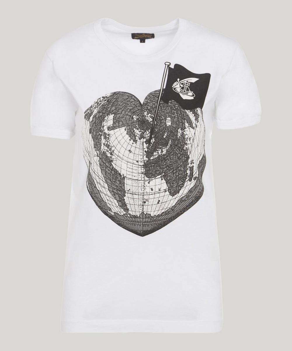 ANGLOMANIA BY VIVIENNE WESTWOOD World T-Shirt in White