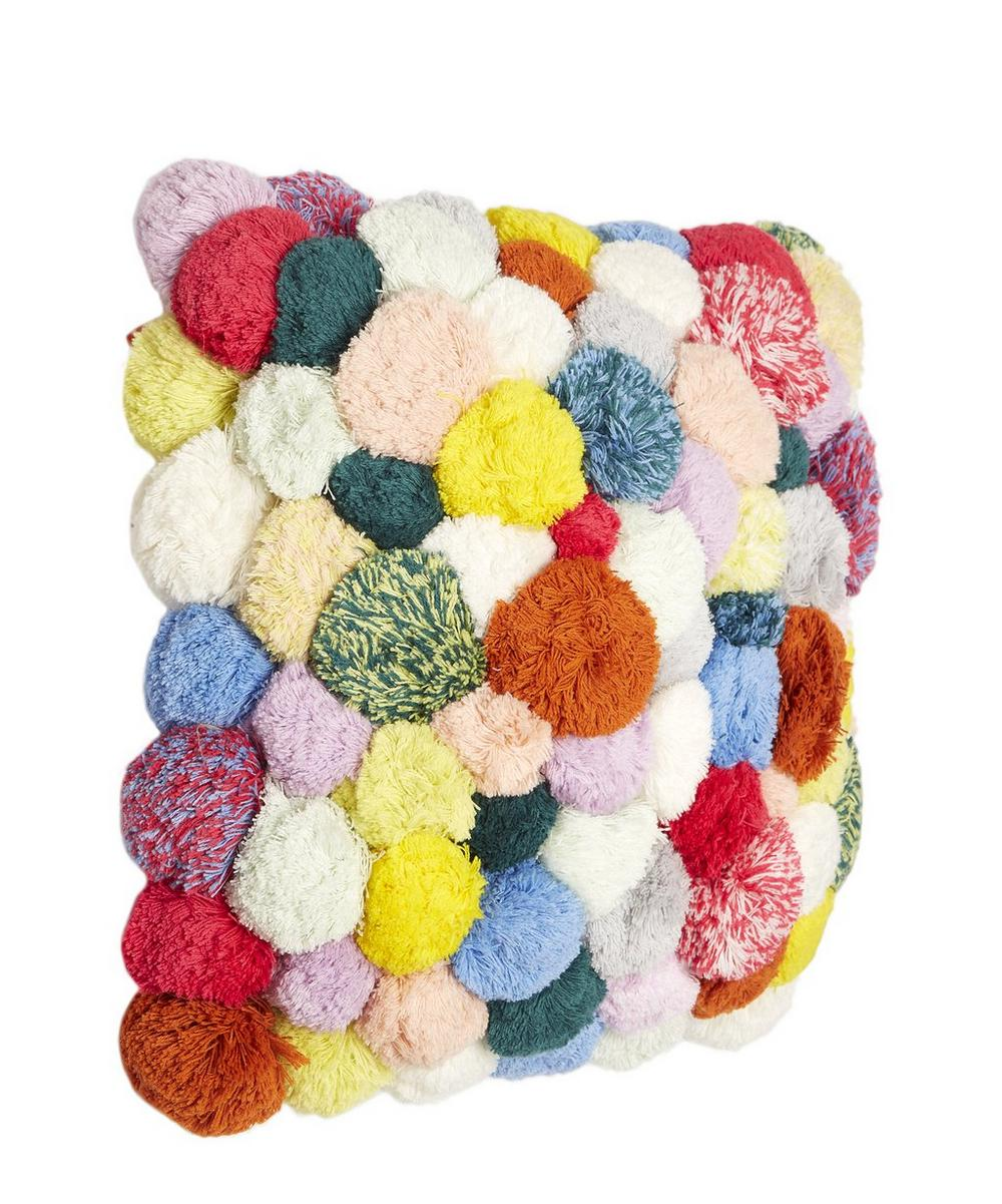 All-Over Pom-Pom Cushion