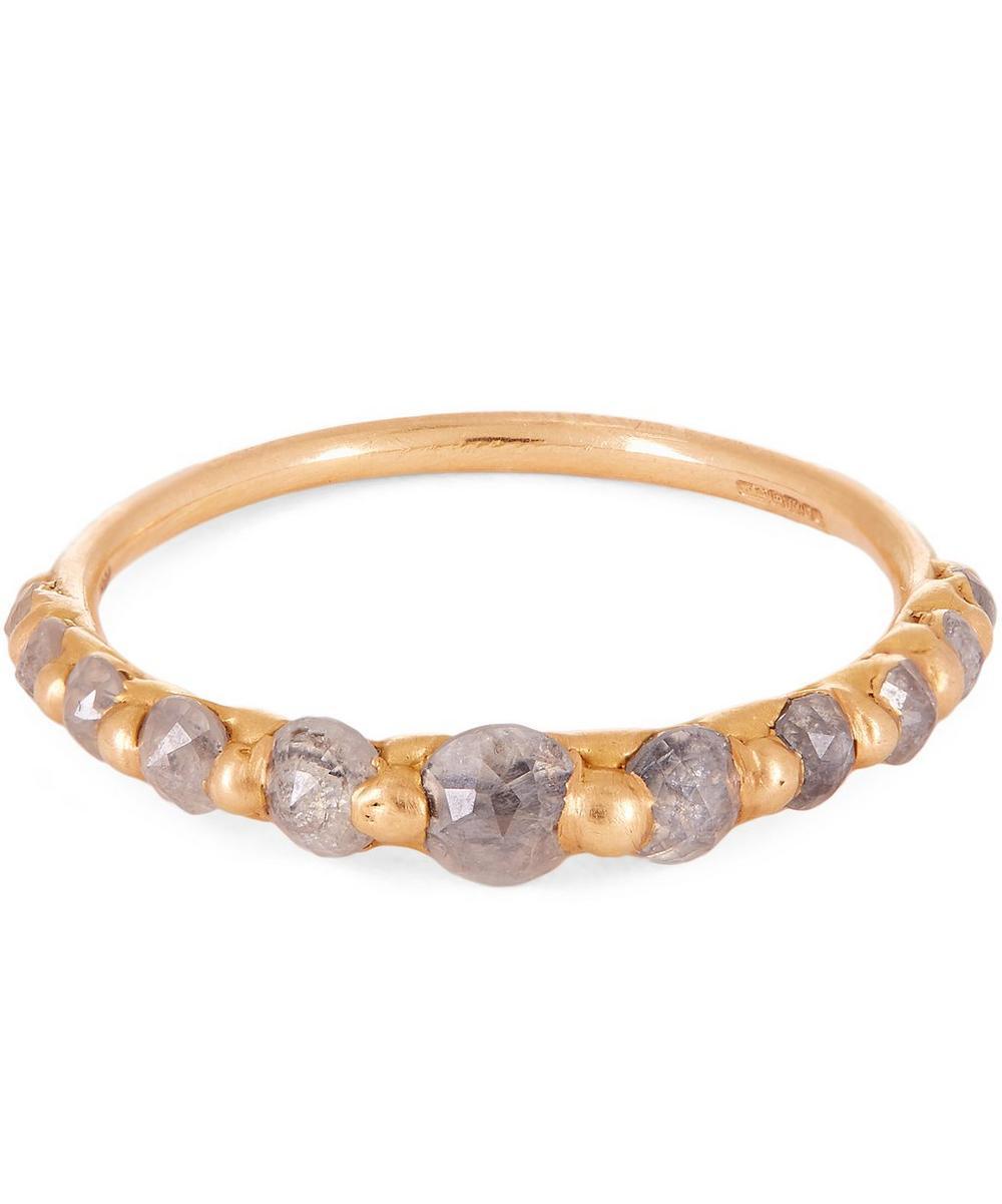 POLLY WALES LILA GREY DIAMOND HALO RING