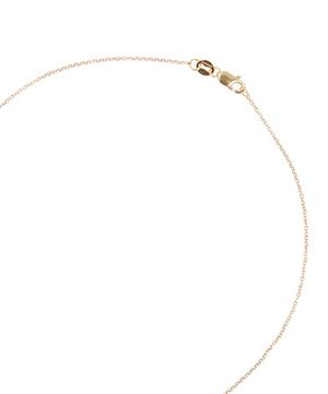 Yellow Gold Champagne Diamond Letter M Necklace