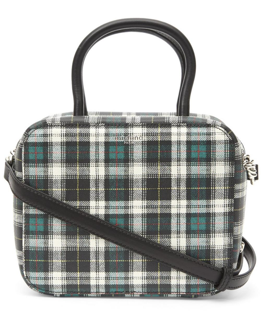 MICHINO Squarit Tartan Bag in White, Black
