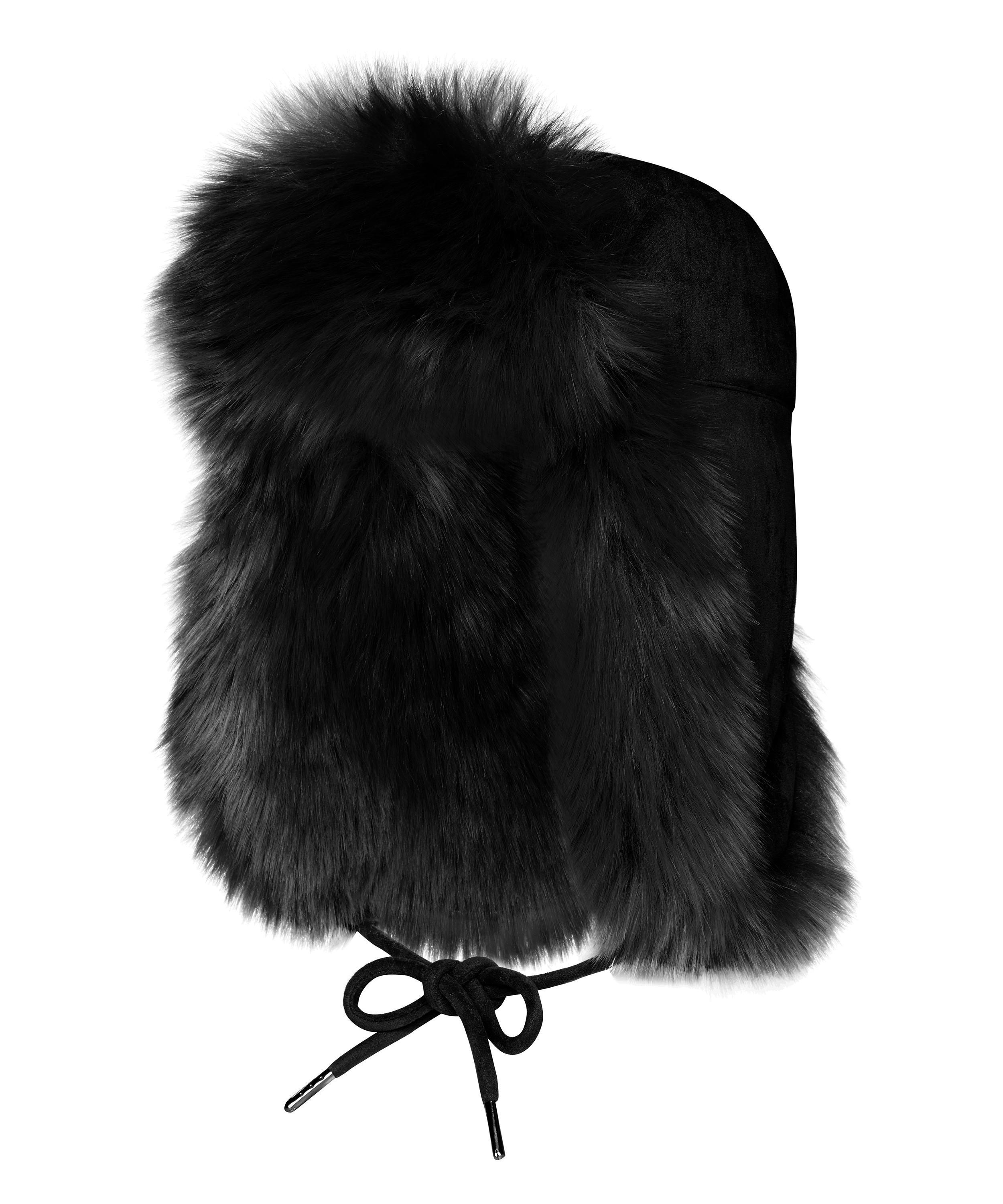 fbc7f20337d5a Helmet Head Faux Fur and Suede Trapper Hat