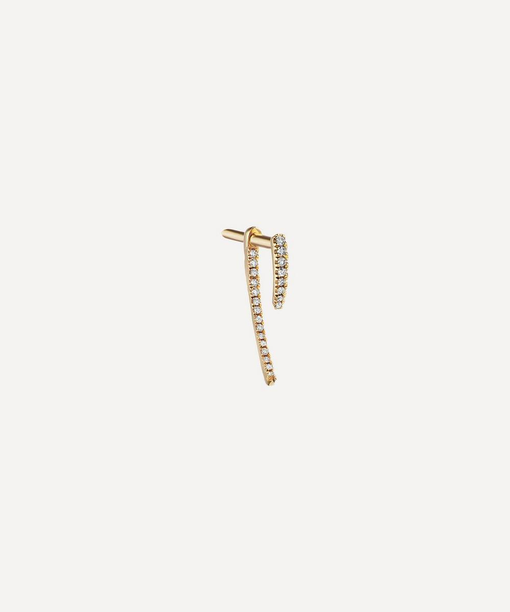 Double Diamond Talon Stud Earring