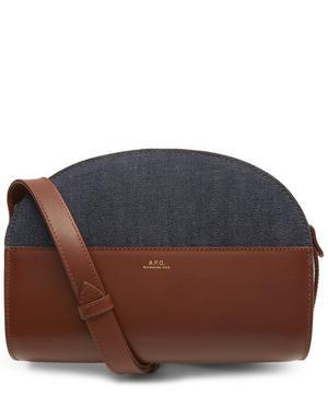 Denim Half-Moon Bag