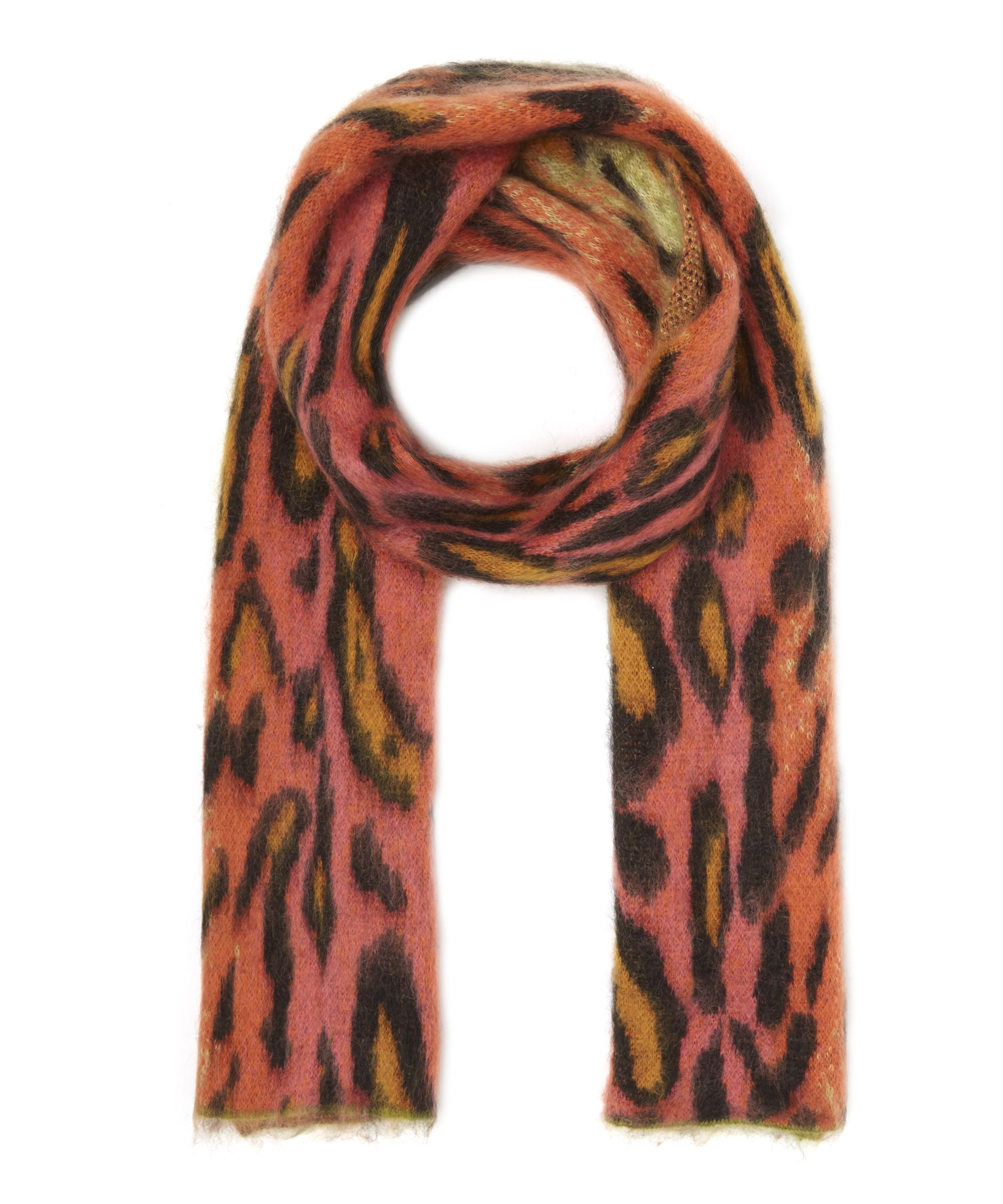 afafb9b6cd Fuzzy Neon Leopard Print Scarf | Liberty London