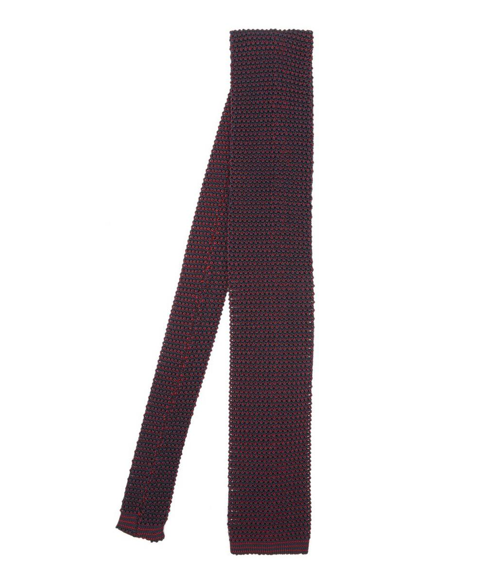 Two Tone Knitted Silk Tie