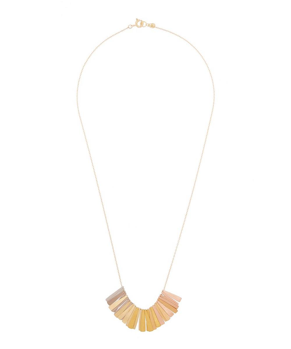 SIA TAYLOR GOLD RAINBOW RAY NECKLACE