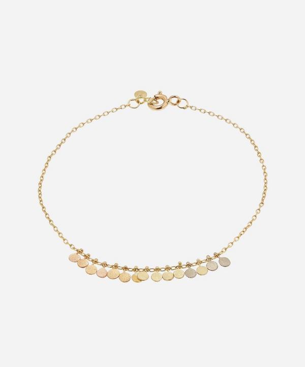 Sia Taylor - Rainbow Gold Tiny Dots Arc Bracelet