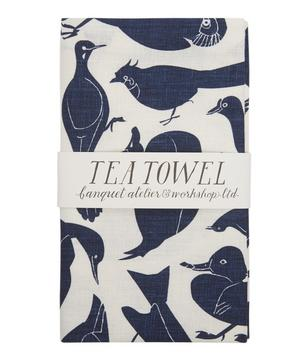 Some Birds Linen Tea Towel
