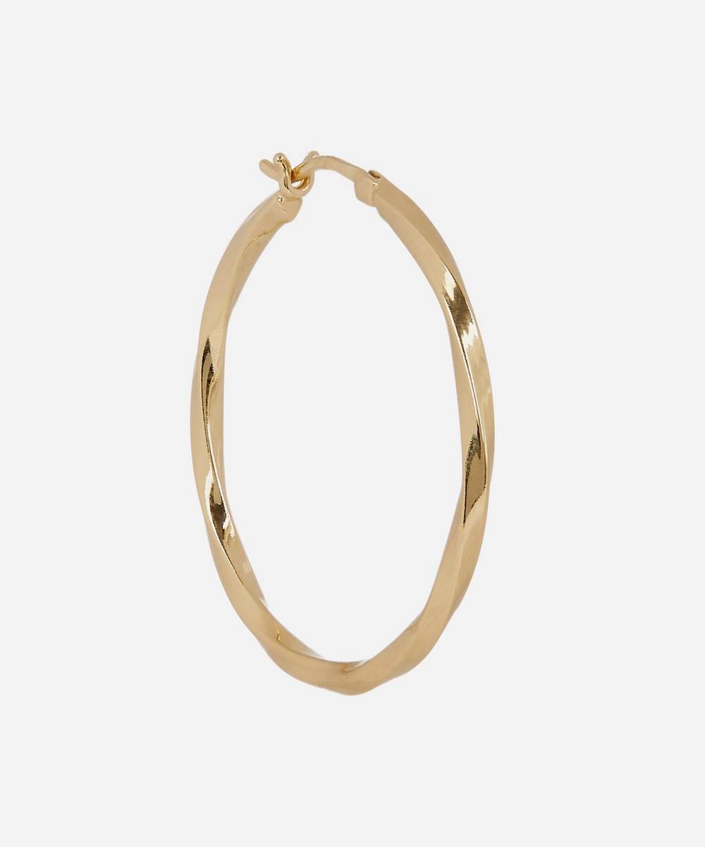 Gold-Plated Medium Francisca Hoop Earring