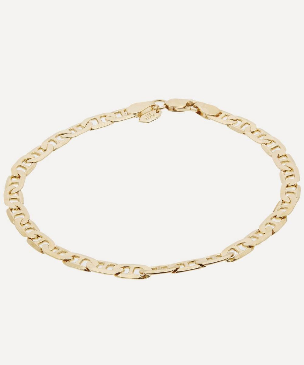 MARIA BLACK GOLD-PLATED LARGE CARLO CHAIN BRACELET