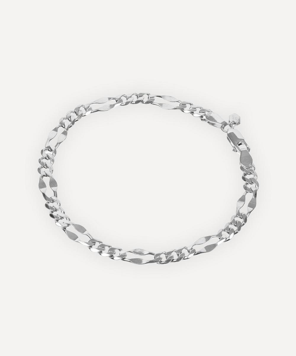 White Rhodium Plated Large Dean Bracelet