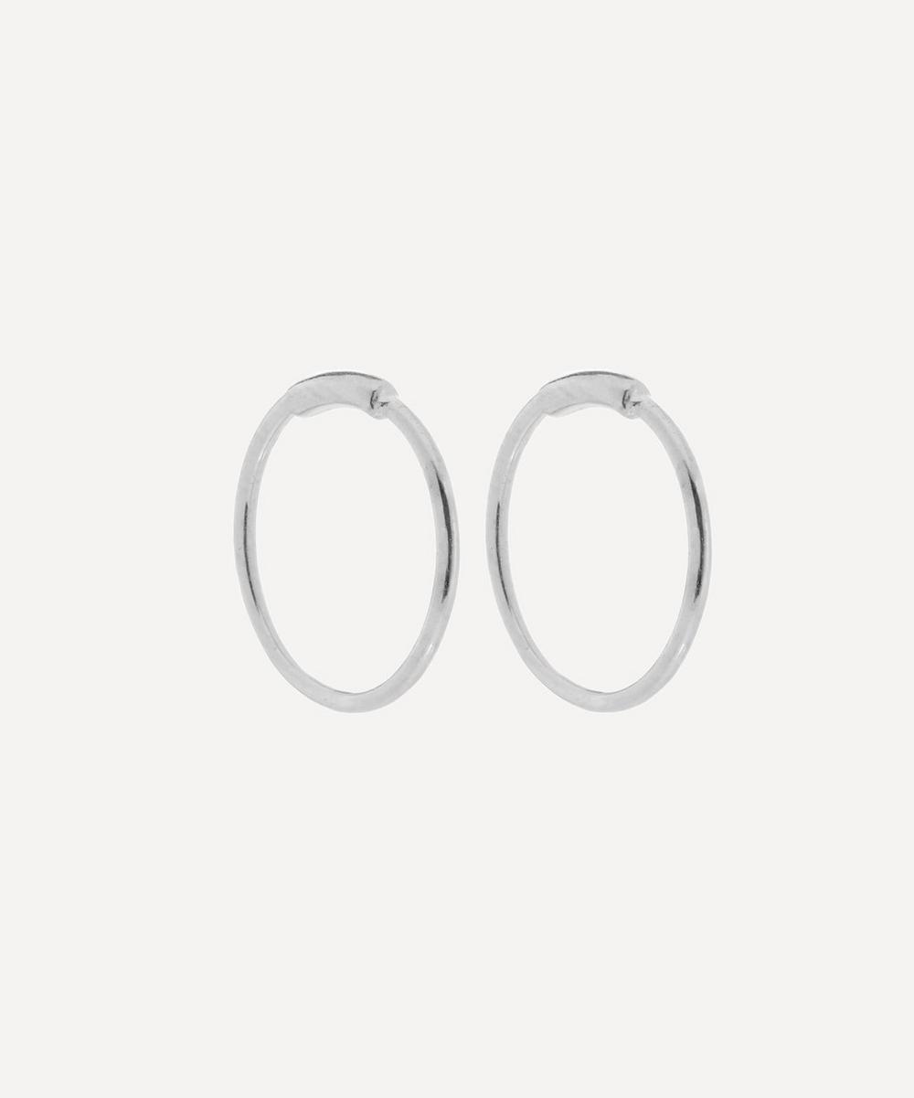 8f4fcbf6e Maria Black Rhodium Plated Basic Hoop Earrings In Rhodium-Plated ...