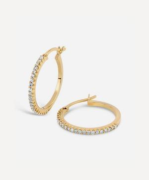 14ct Gold Bijou Micro-Set Diamond Hoop Earrings