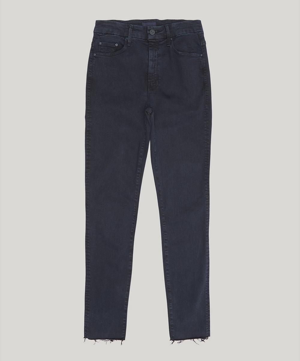High Waist Frayed Jeans