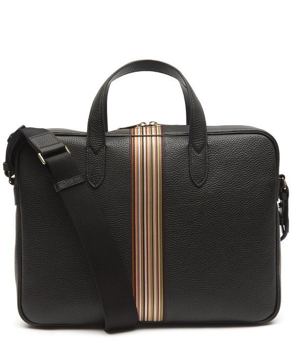 Leather Artist Stripe Portfolio Bag