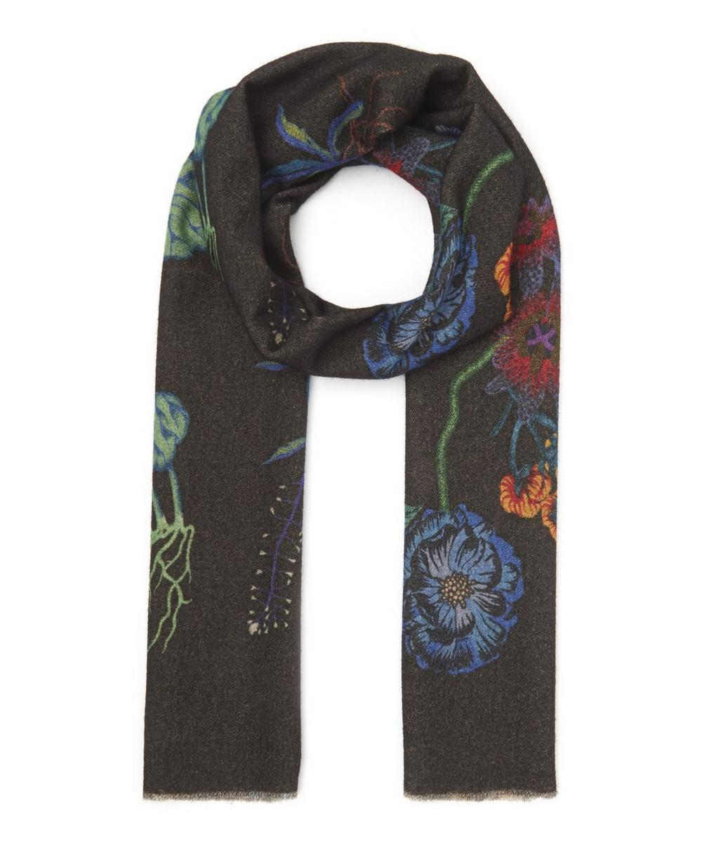 PAUL SMITH REVERSIBLE FLORAL SCARF