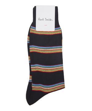 Block Multi Stripe Socks