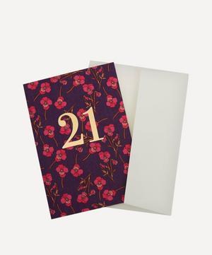 Ros Liberty Print 21 Birthday Card