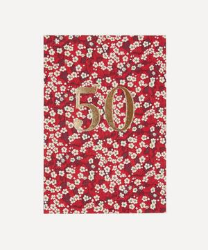 Mitsi Valeria Print 50th Birthday Card