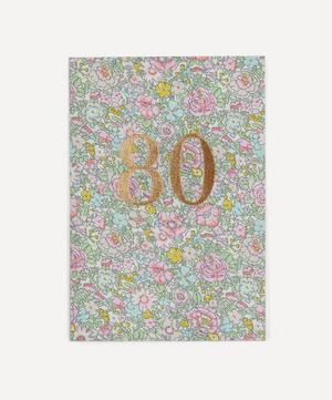 Amelie Print 80th Birthday Card