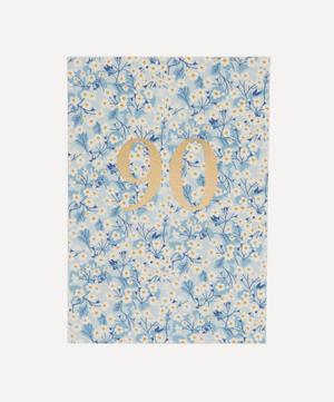 Mitsi Valeria Liberty Print 90 Birthday Card