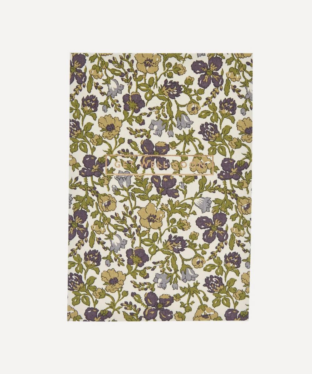 Meadow Flowers Liberty Print Get Well Soon Card