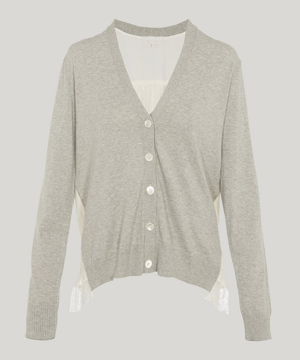 CLU BACK PLEAT CARDIGAN