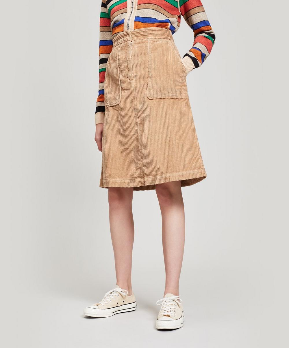 Idris Mid-Length Corduroy Skirt