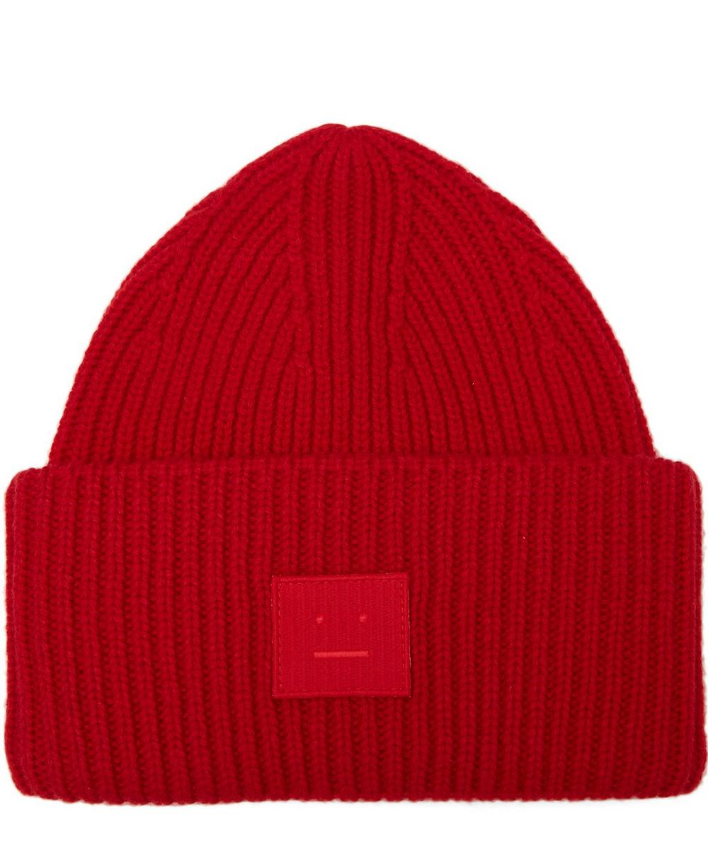 PANSY S FACE WOOL BEANIE HAT