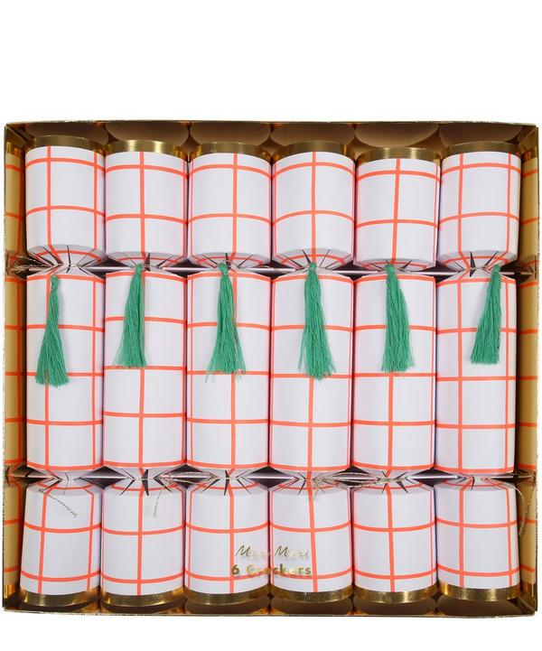 Coral Grid Crackers