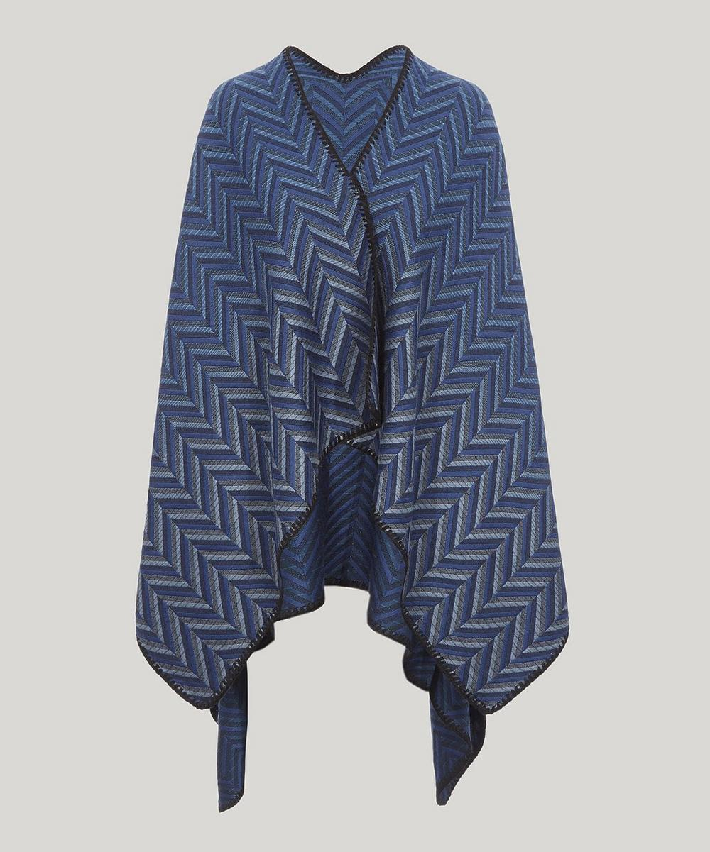 WOOL CHEVRON CAPE