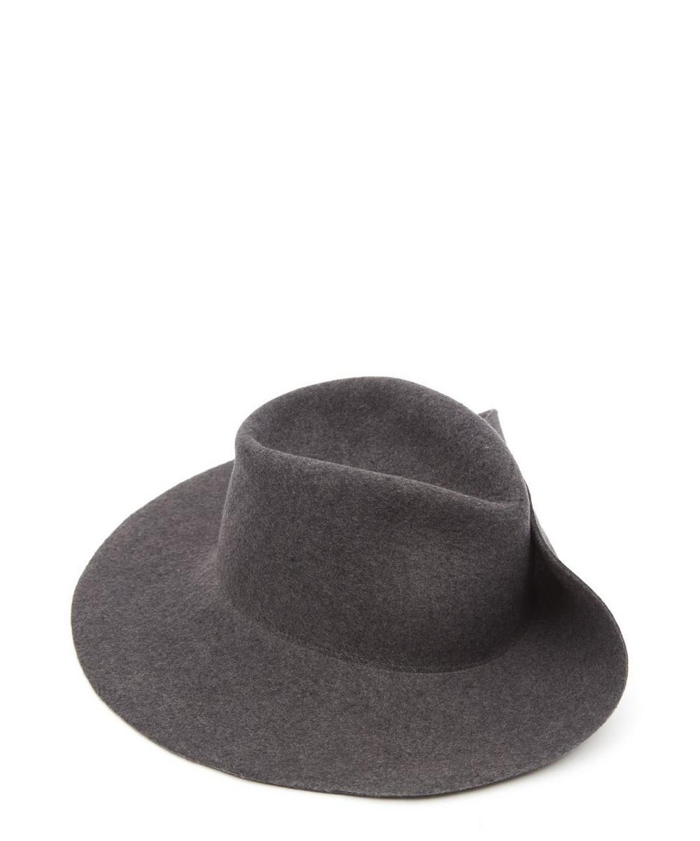 238bf51a148ada Wide Pinned Brim Wool Pinch Hat | Liberty London