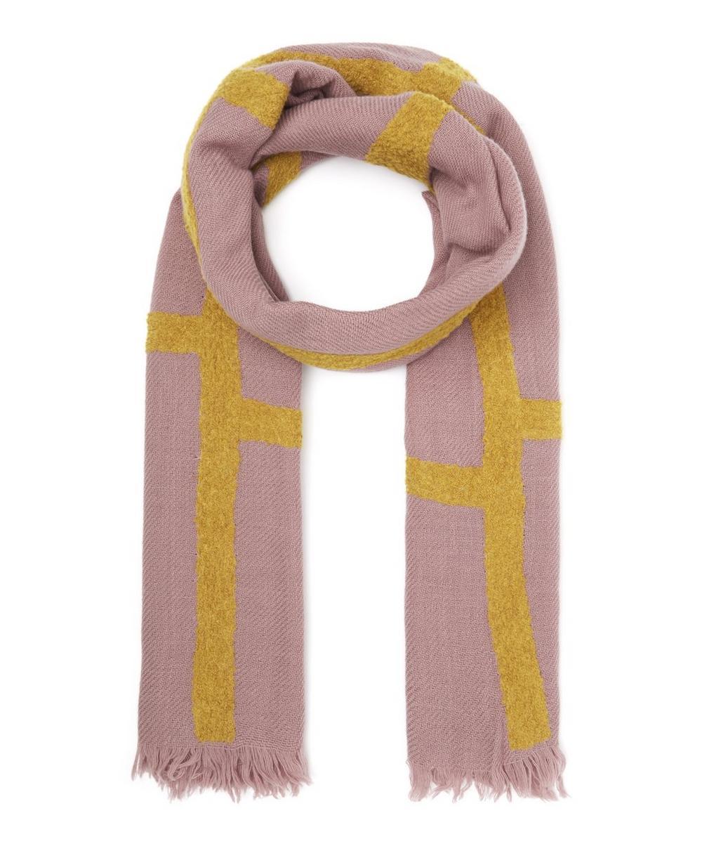 INOUITOOSH Kathleen Wool Scarf in Pink