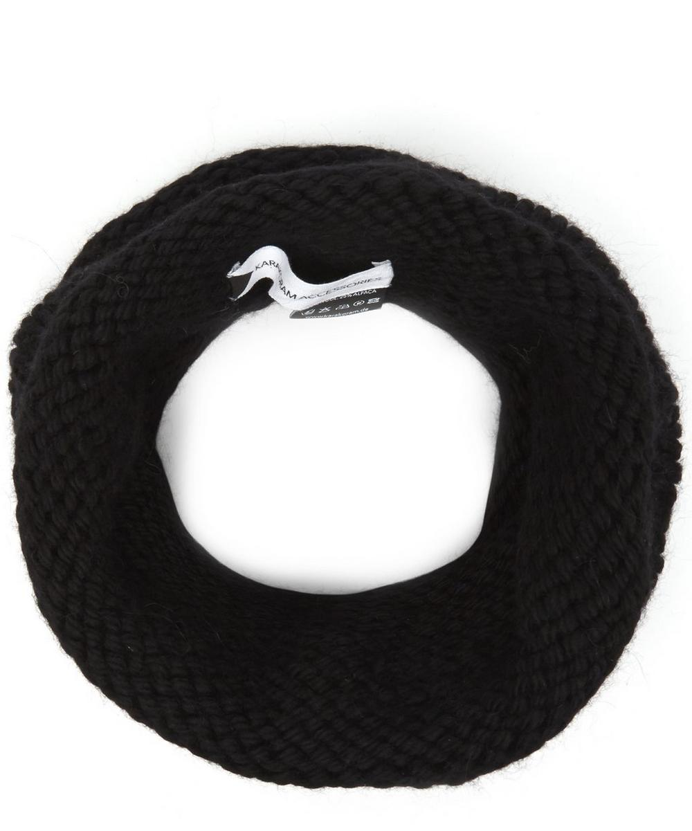 KARAKORAM Yayamari Wool-Blend Snood in Black