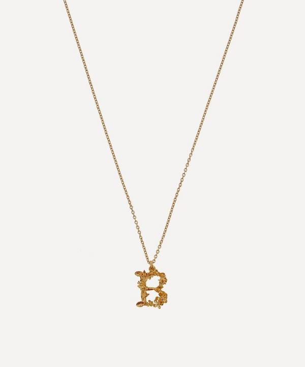 2e1fb654c Gold-Plated Floral Letter B Alphabet Necklace ...