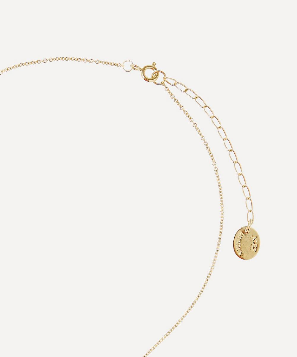 Gold-Plated Floral Letter D Alphabet Necklace