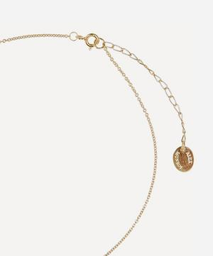 Gold-Plated Floral Letter H Alphabet Necklace