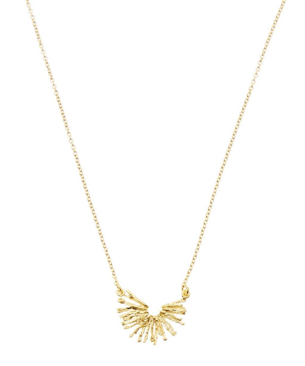 ALEX MONROE GOLD-PLATED NEST STRUCTURE HALF CIRCLE NECKLACE