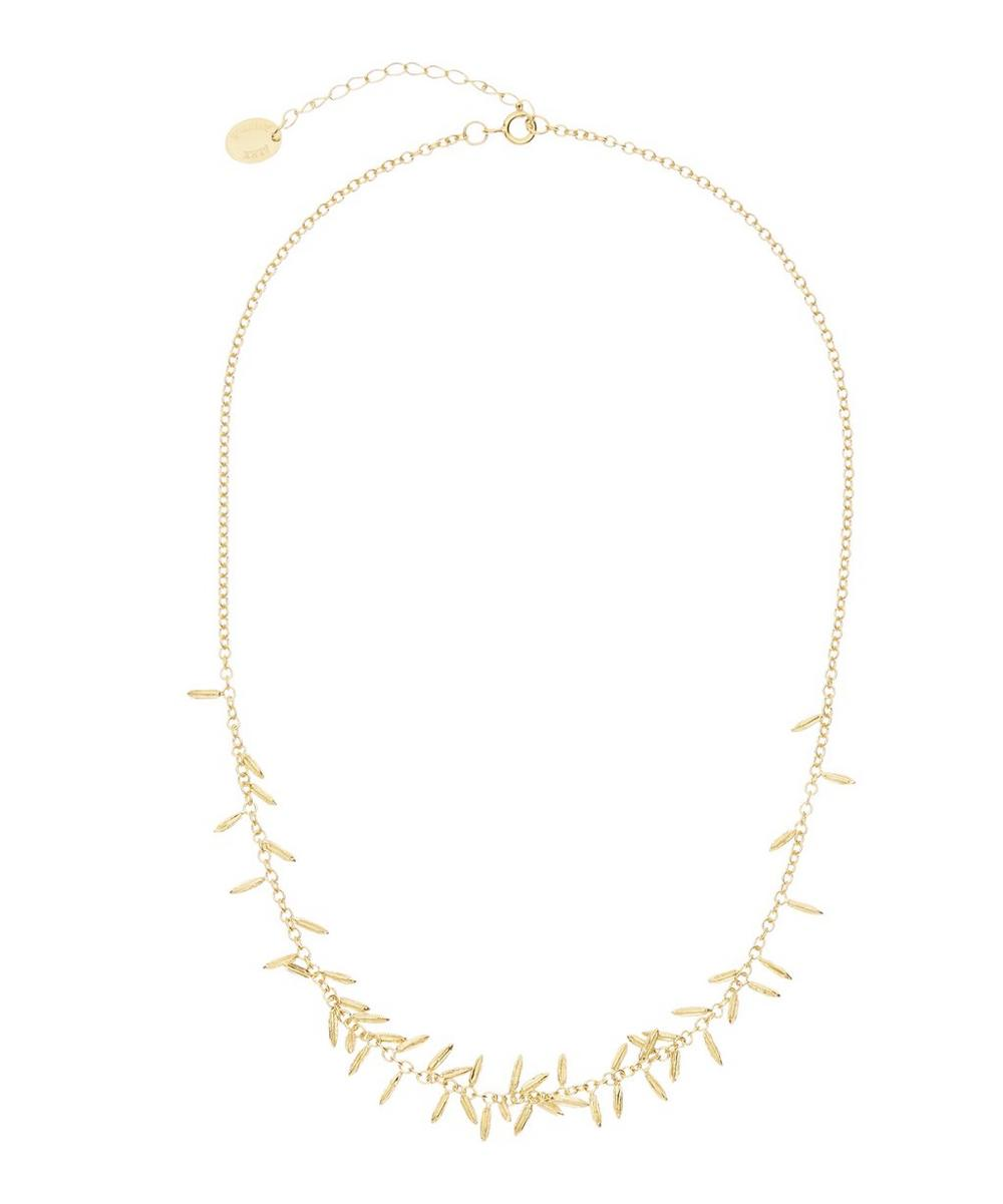ALEX MONROE GOLD-PLATED FENNEL KISSING SEED NECKLACE