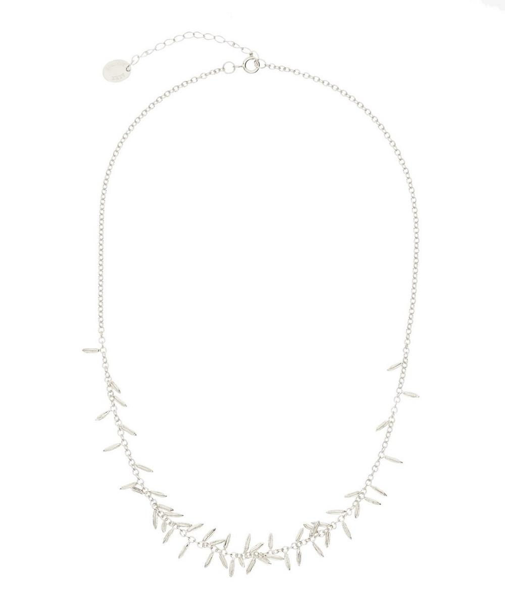 ALEX MONROE SILVER FENNEL KISSING SEED NECKLACE