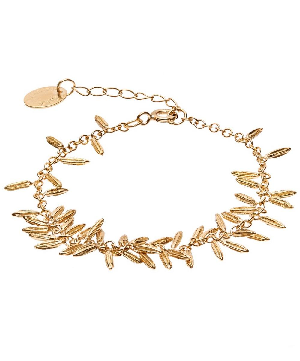 ALEX MONROE GOLD-PLATED FENNEL KISSING SEED BRACELET