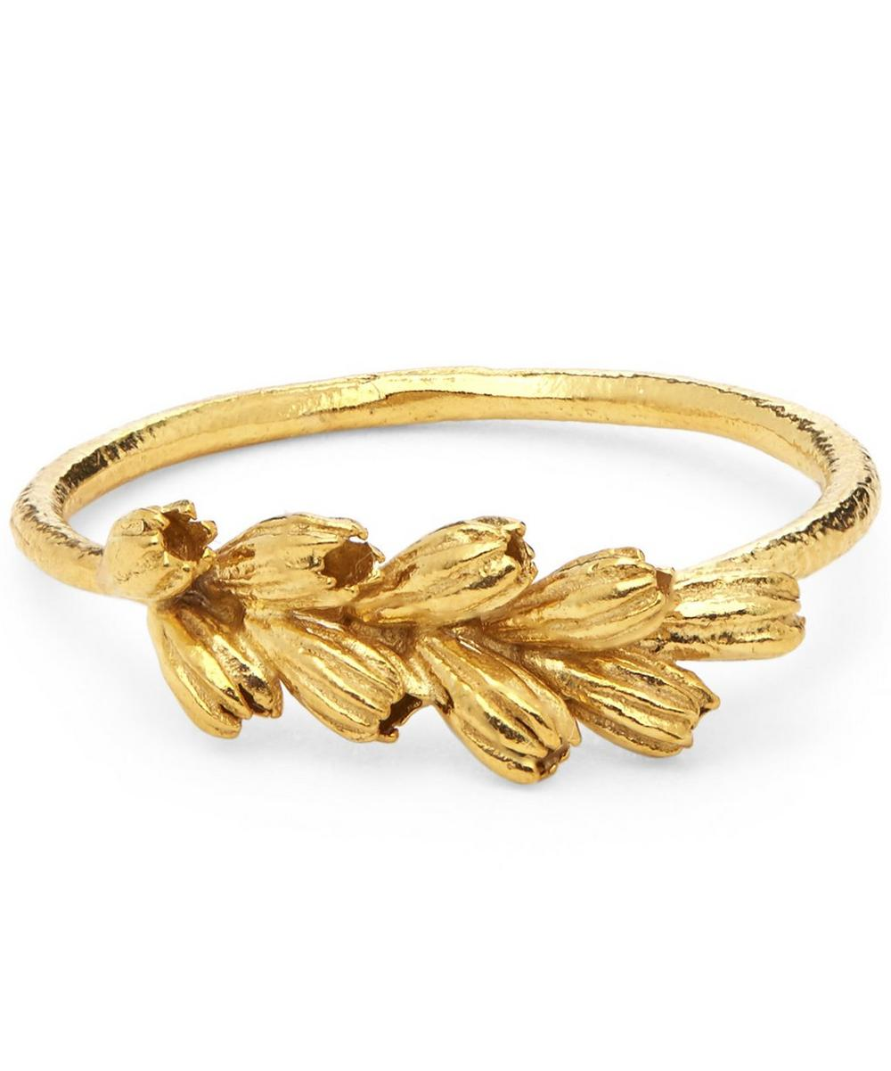 Gold-Plated Clustered Seed Pod Ring
