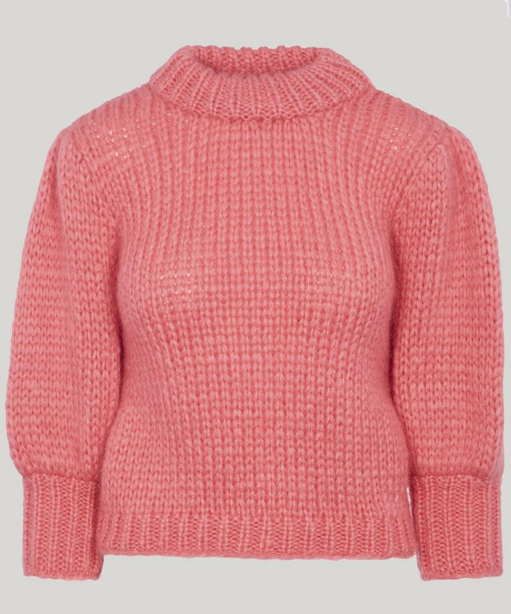 7b231fe590c5 Ganni Juilliard Mohair Sweater In Pink