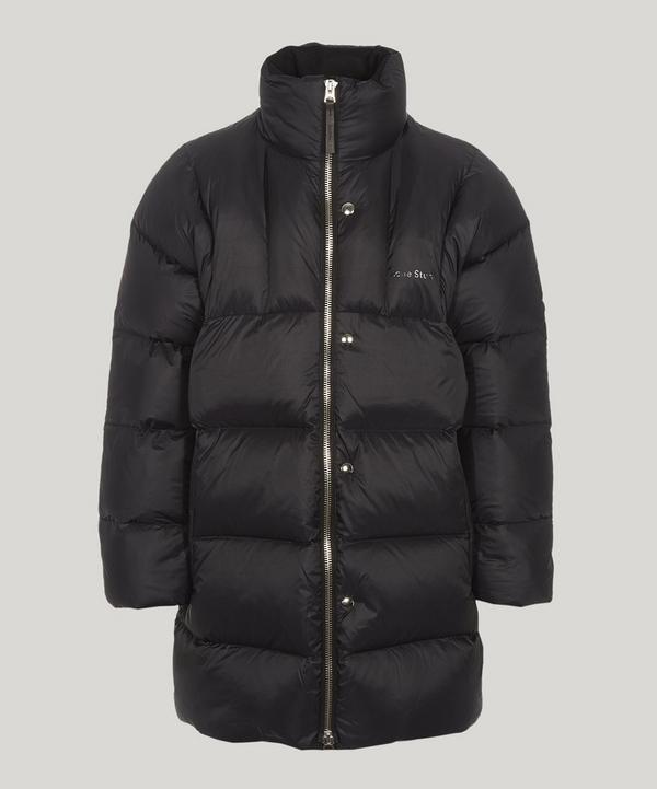 Long Zip-Through Puffer Coat