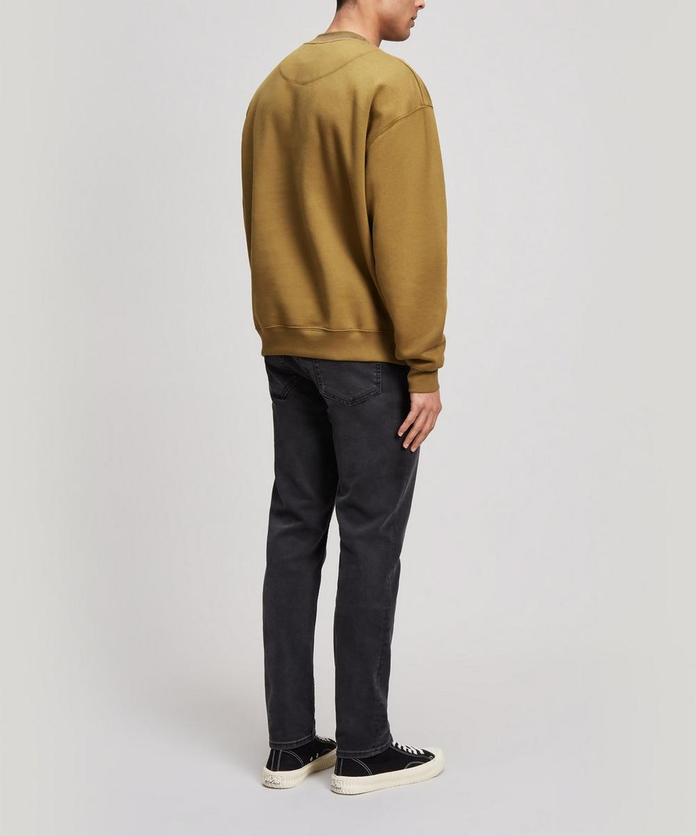 Flogho Logo Ribbed Neck Cotton Sweatshirt