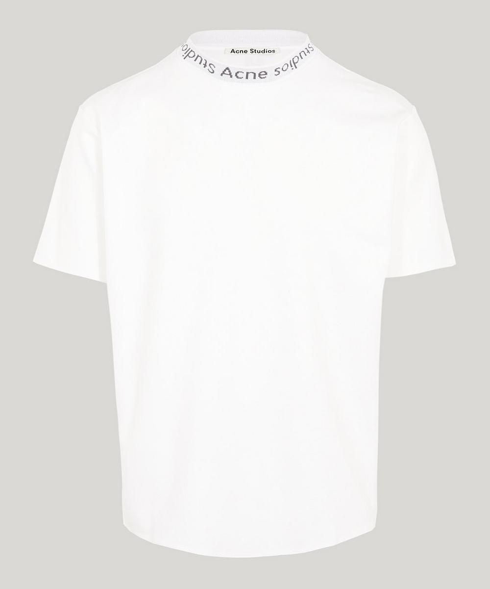 Navid Logo Ribbed Cotton T-Shirt