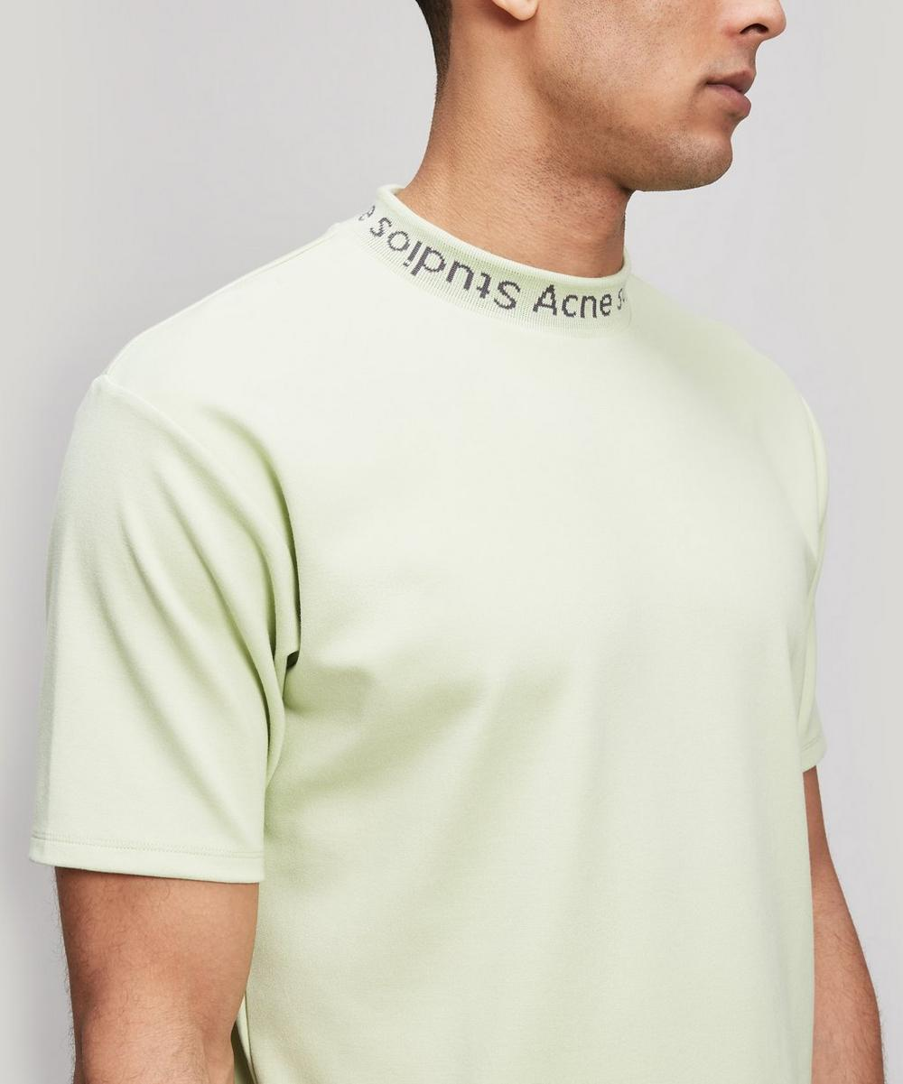 Navid Logo Ribbed Cotton T-Shirt