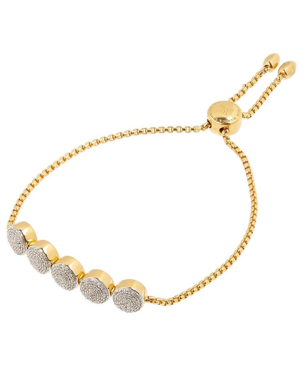 Gold-Plated Fiji Button Chain Friendship Bracelet