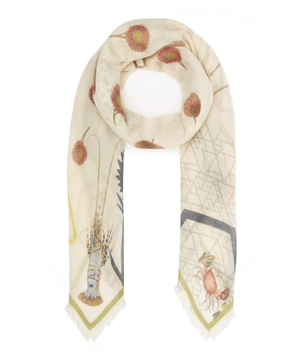 HETI'S COLOURS Anna Wool Scarf in Cream